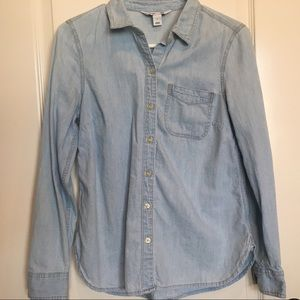 Old Navy Classic Chambray Button-Down Shirt